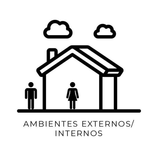 Ícone ambiente externo/interno