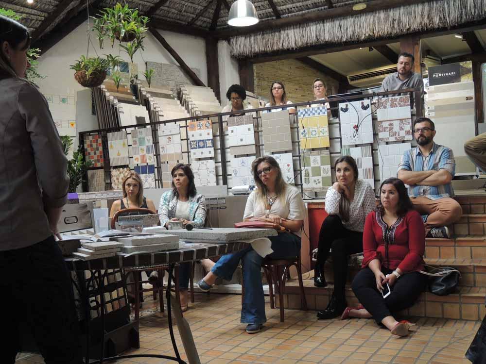 Treinamento Loja Ceramick para arquitetos e Designers